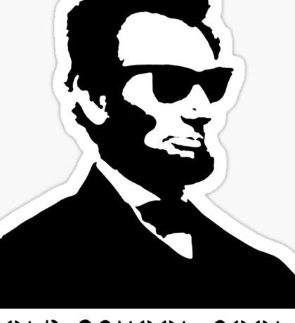 Cool Abe Lincoln - Old School Cool (Not for clothes) Sticker