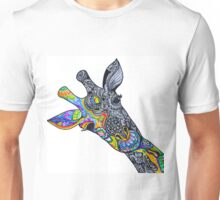 Peeking giraffe  Unisex T-Shirt