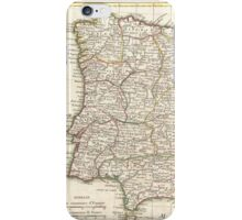 Vintage Map of Spain (1775)  iPhone Case/Skin