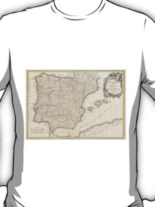 Vintage Map of Spain (1775)  T-Shirt