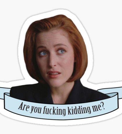 Sassy Scully sticker 2 Sticker