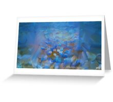 Scale Blue Abstract Painting Greeting Card