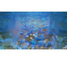 Scale Blue Abstract Painting Photographic Print