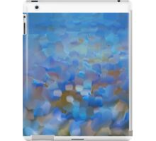 Scale Blue Abstract Painting iPad Case/Skin