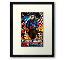Ash for president Framed Print