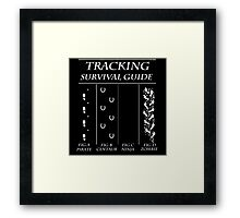 TRACKING SURVIVAL GUIDE Framed Print