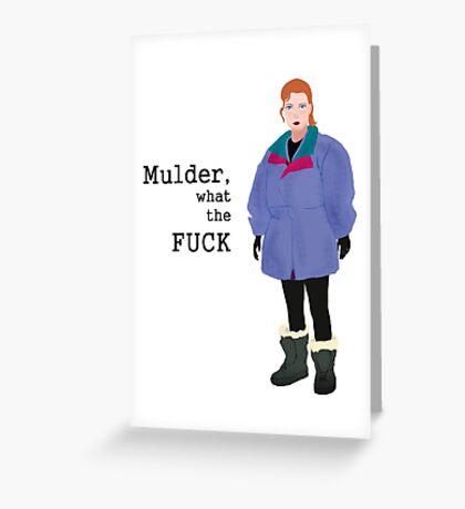 Mulder wtf Greeting Card