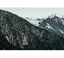 Winter Mountain Closeup Photographic Print