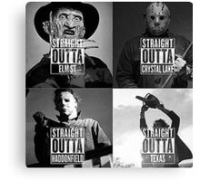 straight outta horror film Canvas Print