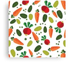 Healthy Colorful Vegetables Pattern Canvas Print