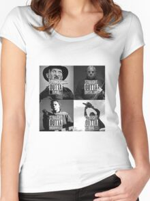 straight outta horror film Women's Fitted Scoop T-Shirt