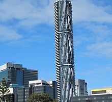 ('THE BARCODE TOWER') The Peoples name, City of Brisbane. Qld., by Rita Blom