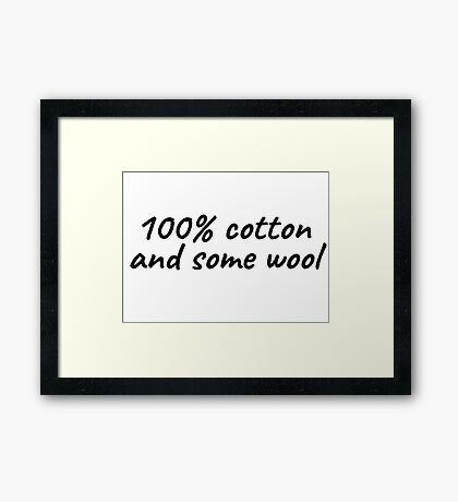 Cotton Seinfeld Funny Quote Tv Show T-Shirts Framed Print