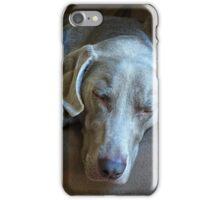 Sleepy Weimaraner iPhone Case/Skin