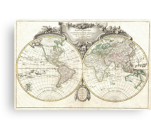 Vintage Map of The World (1775) Canvas Print