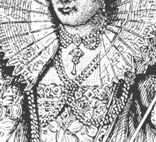 Elizabeth I Head Quote Sticker