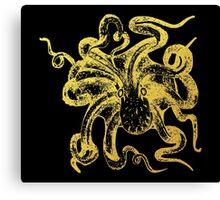 Gold Octopus Canvas Print