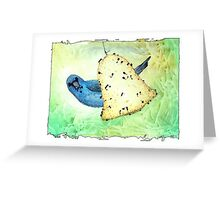 Indigo Bunting Notes Greeting Card