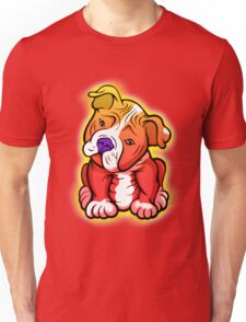 Tilted Head Pit Bull Pup Graphic Unisex T-Shirt