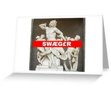 greek Swaeger Greeting Card
