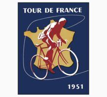 TOUR DE FRANCE; Vintage Bicycle Racing Advertising Print Kids Tee