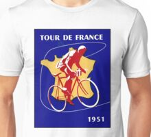 TOUR DE FRANCE; Vintage Bicycle Racing Advertising Print Unisex T-Shirt