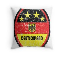 World Cup Football 3/8 - Deutschland (Distressed) Throw Pillow