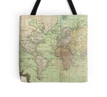 Vintage Map of The World (1778) Tote Bag