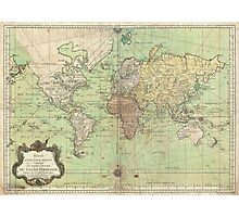 Vintage Map of The World (1778) Photographic Print