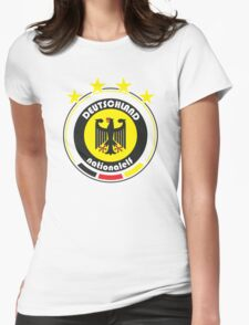 World Cup Football 3/8 - Team Deutschland Womens Fitted T-Shirt
