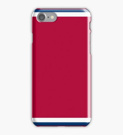 Red with White and Blue Trim iPhone Case/Skin