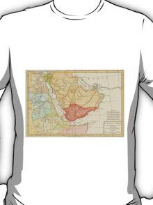Vintage Map of Saudi Arabia (1780) T-Shirt
