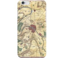 Vintage Map of Paris and Surrounding Areas (1780) iPhone Case/Skin