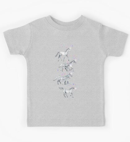 Unicorns and Stars on Soft Grey Kids Tee