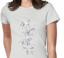 Unicorns and Stars on Soft Grey Womens Fitted T-Shirt
