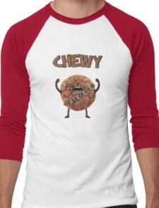 Chewy Chocolate Cookie Wookiee Men's Baseball ¾ T-Shirt