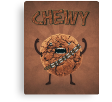 Chewy Chocolate Cookie Wookiee Canvas Print