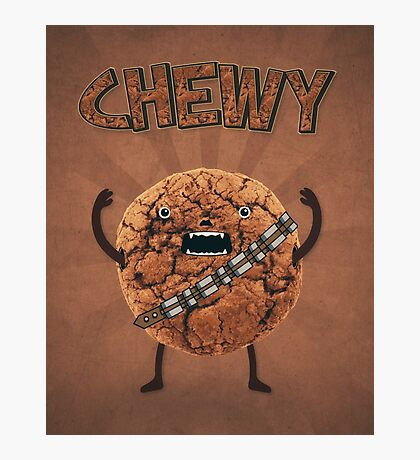 Chewy Chocolate Cookie Wookiee Photographic Print