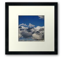 Storm Brewing Clouds Know Framed Print