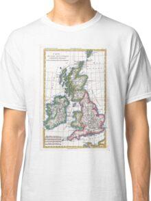 Vintage Map of British Isles (1780) Classic T-Shirt