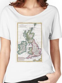 Vintage Map of British Isles (1780) Women's Relaxed Fit T-Shirt