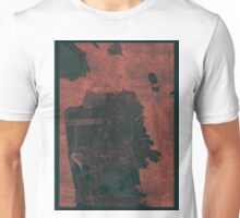 San Francisco Map Red Unisex T-Shirt