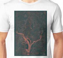 Washington Map Red Unisex T-Shirt
