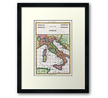 Vintage Map of Italy (1780) Framed Print