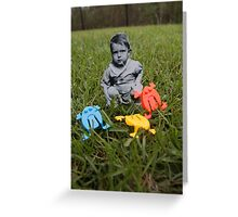 Pop Frogs Greeting Card