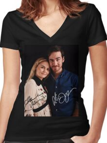 Colin & Jennifer - Once Upon A Time Women's Fitted V-Neck T-Shirt