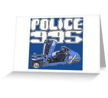 blade runner 955 spinner police car Greeting Card