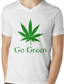Go Green - Legalize Marijuana Mens V-Neck T-Shirt