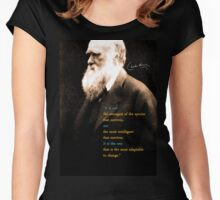 Charles Darwin Quote 3 Women's Fitted Scoop T-Shirt