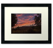 Gorgeous Sunset Over Mountains  Framed Print